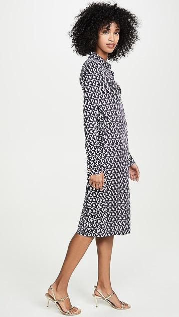Tory Burch 印花平纹针织衬衣连衣裙