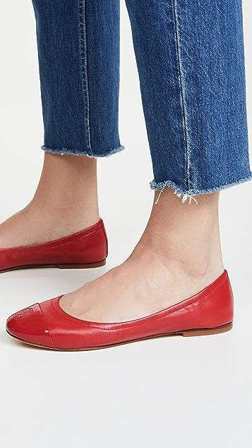 Tory Burch Exclusive 包头芭蕾舞平底鞋