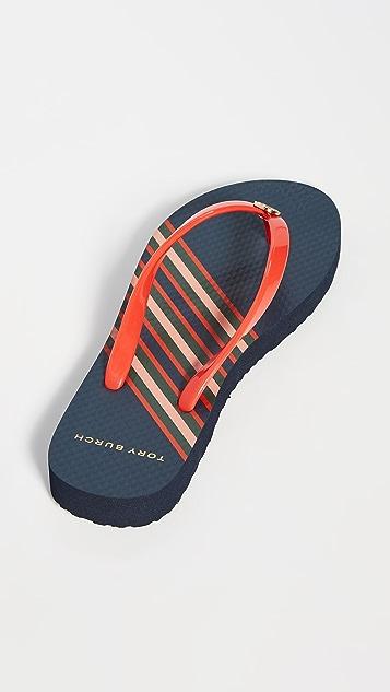 Tory Burch 交织细凉鞋
