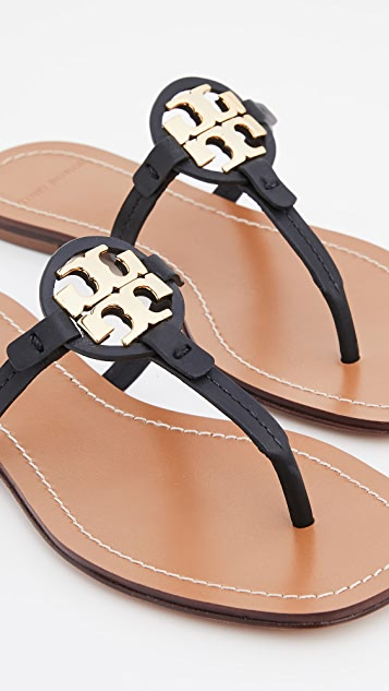 Tory Burch Mini Miller 皮夹趾凉鞋