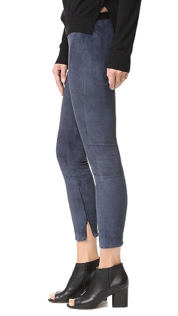 ThePerfext Brittany 绒面革贴腿裤