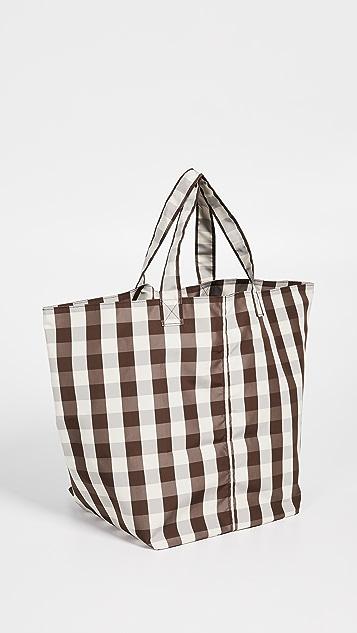 商标 大号格子食品杂物手提袋