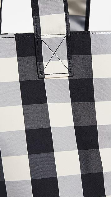 商标 小号格纹杂货手提袋