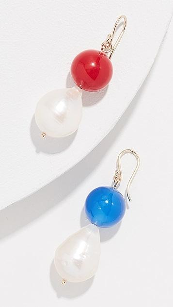 商标 Vermeer Baroque 淡水养殖珍珠耳环