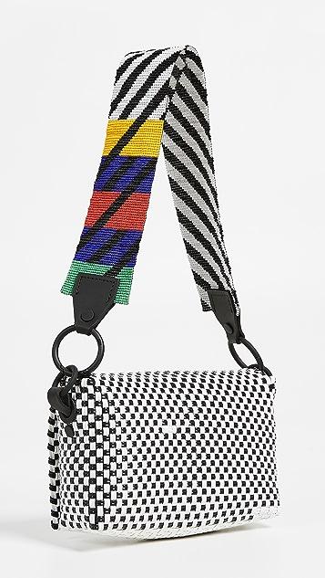 Truss 珠饰带子长方形包