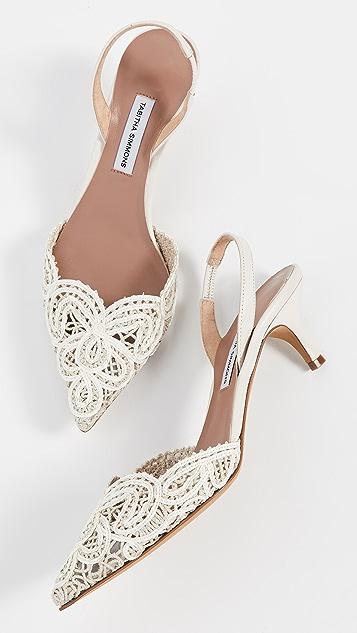 Tabitha Simmons Phebe Floret 露跟凉鞋