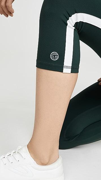 Tory Sport 反光九分贴腿裤