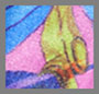 丛林树叶紫色