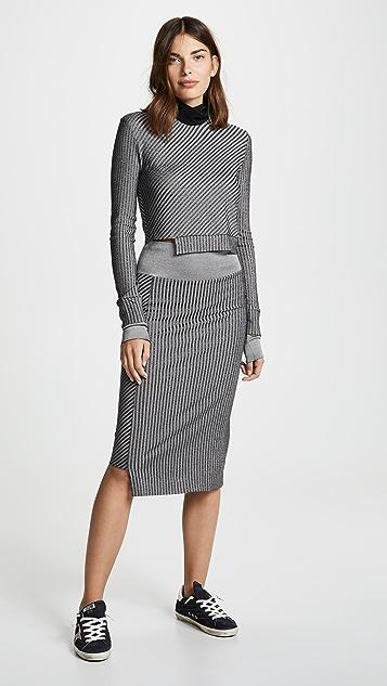 TWENTY MONTREAL Roslyn Plated 罗纹铅笔裙