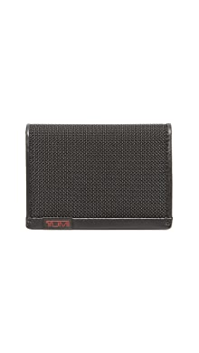 투미 Tumi Alpha Gusseted Card Case with ID Window,Black
