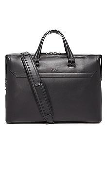 투미 Tumi Ashton Leather Gates Slim Briefcase,Black