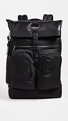 투미 알파 브라보 런던 롤탑 백팩 Tumi Alpha Bravo London Rolltop Backpack,Black