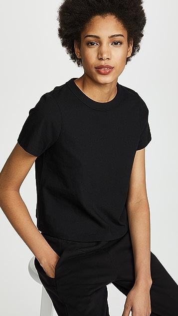 alexanderwang.t 男孩风短款平针织 T 恤