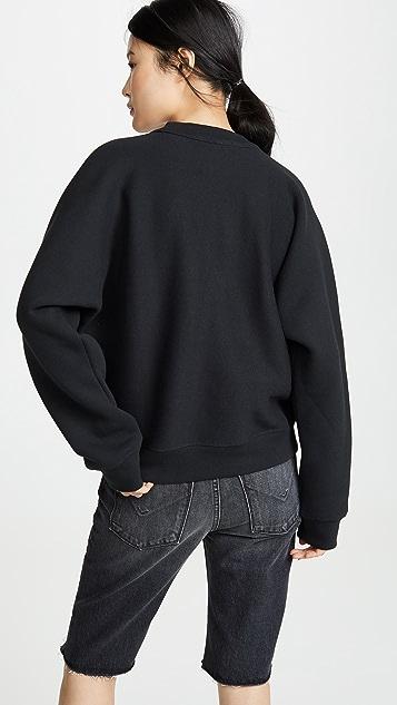 alexanderwang.t 泡泡彩绘印花密实针织圆领运动衫