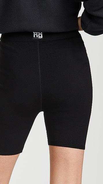 alexanderwang.t Foundation 合身剪裁机车短裤