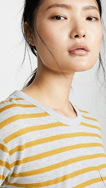 alexanderwang.t 条纹竹节纹短袖 T 恤