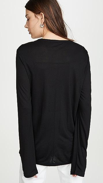 alexanderwang.t 捏褶细节垂褶平针织 T 恤