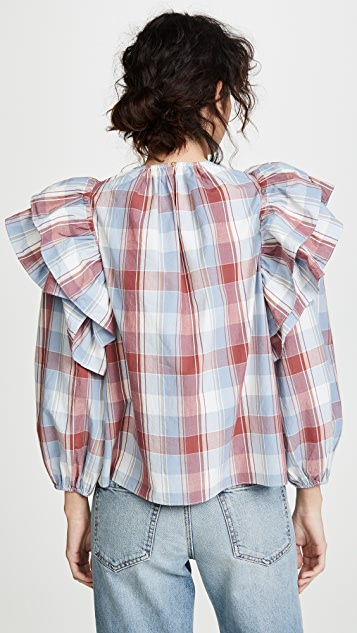 Ulla Johnson Caasi 女式衬衫