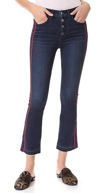 Veronica Beard Jean Carolyn 燕尾条纹牛仔裤