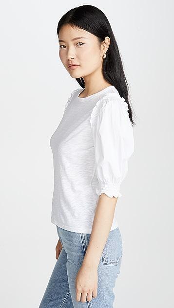 Veronica Beard Jean 云朵 T 恤/泡泡袖