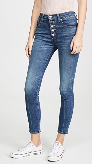 Veronica Beard Jean Debbie 高腰紧身长牛仔裤