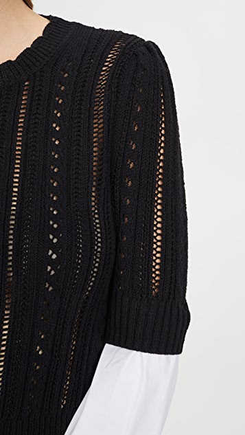 Veronica Beard Spence 混合材料毛衣