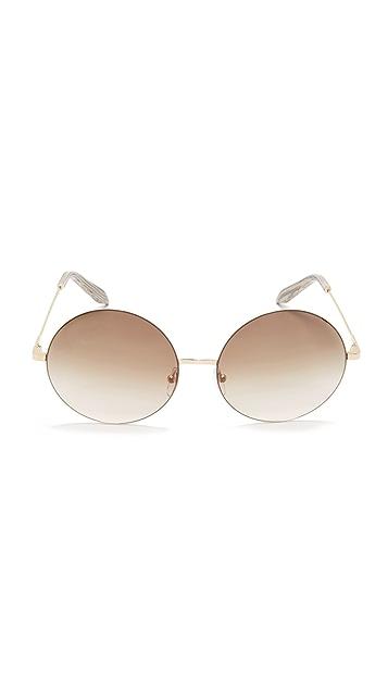 Victoria Beckham 轻盈圆形太阳镜