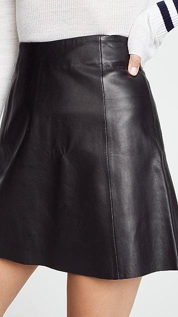VEDA 圆形皮革迷你裙