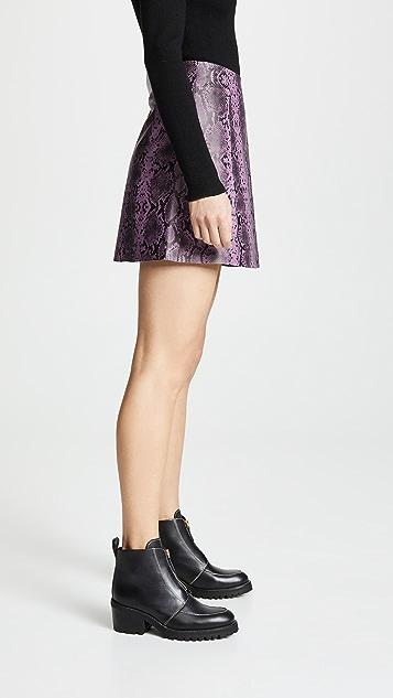 VEDA 圆形皮裙