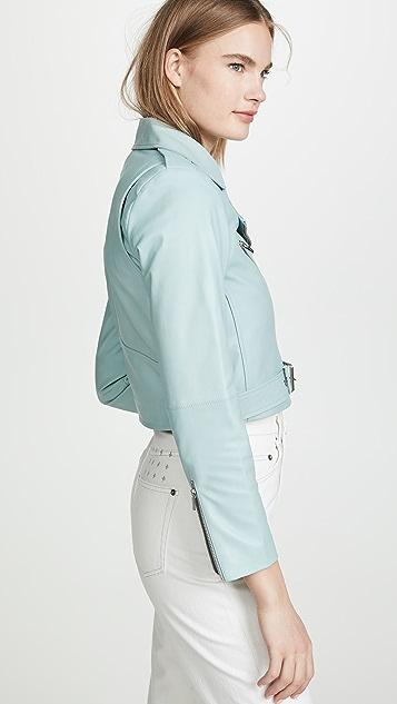VEDA Baby Jane 光滑皮夹克