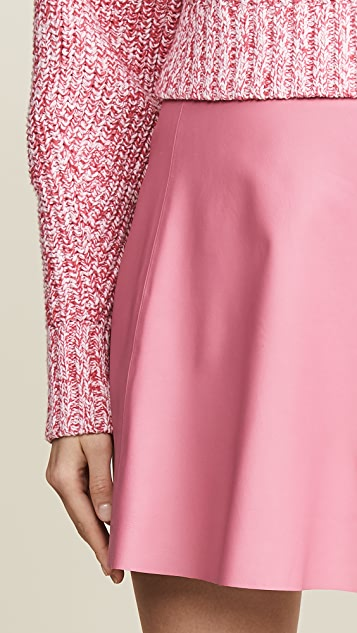 VEDA 光滑皮弧形半身裙