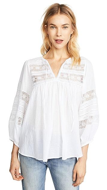 天鹅绒 Evie 蕾丝女式衬衫
