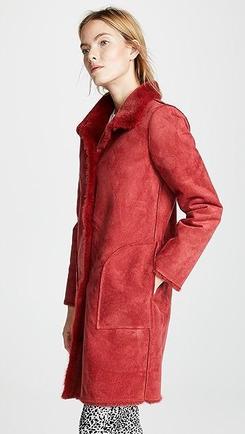 天鹅绒 Mina 仿皮毛大衣