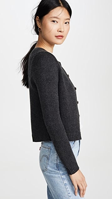 天鹅绒 Kathy 开司米羊绒开襟衫