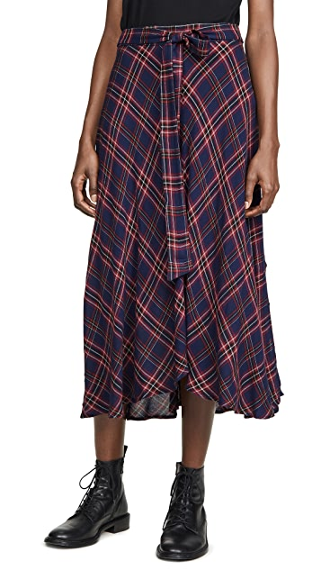 天鹅绒 Calley 半身裙