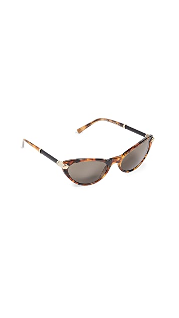 Versace 窄款猫眼太阳镜