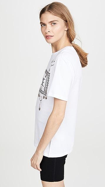Versace 安全别针徽标 T 恤