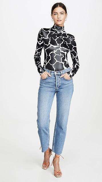 Versace 高领紧身连衣裤