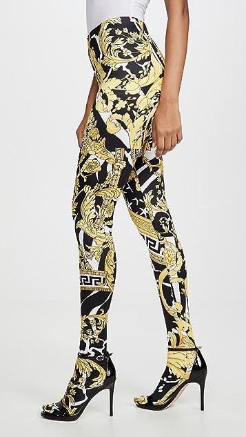 Versace 图案元素贴腿裤