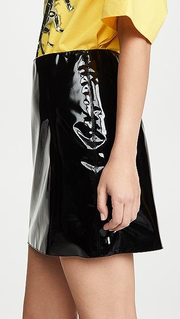 Versace Vinyl 迷你半身裙