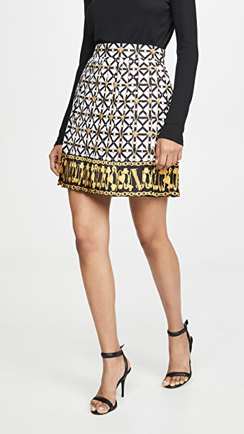 Versace 印花迷你裙