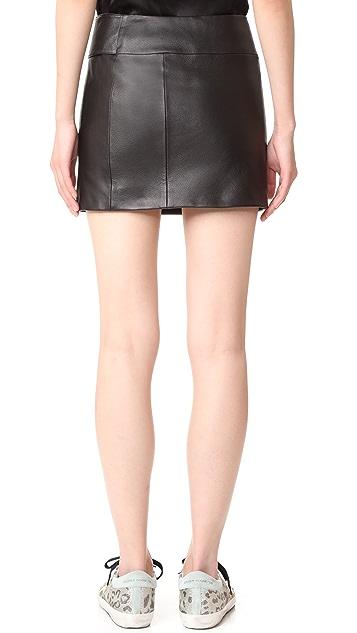 Versus 腰带设计皮半身裙