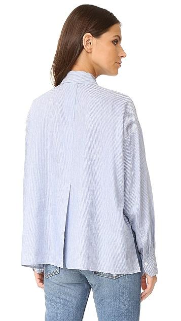 Vince 长袖短衬衣