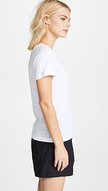 Vince 短袖 T 恤式衬衫