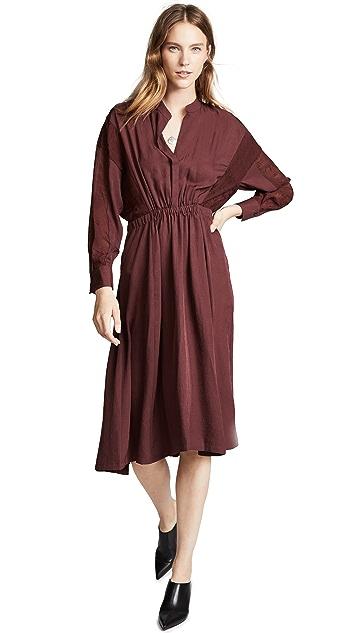 Vince 混合材质连衣裙
