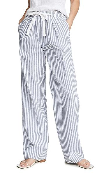 Vince 条纹阔腿裤