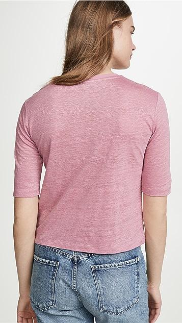 Vince 中袖圆领 T 恤