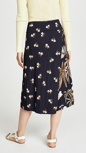 Vince 混合热带风格花园半身裙