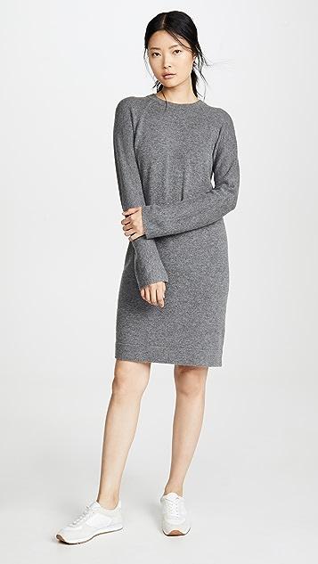 Vince 羊毛连帽圆领连衣裙