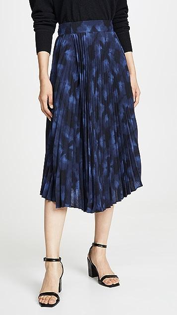 Vince 冬日扎染裥褶半身裙